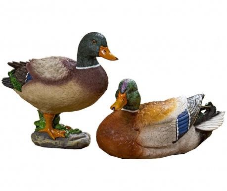 Sada 2 záhradných dekorácií Herta Duck