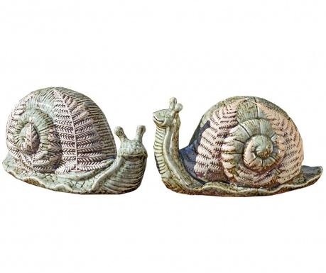 Sada 2 záhradných dekorácií Ilse Snail