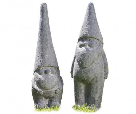 Sada 2 záhradných dekorácií Gnome Harald