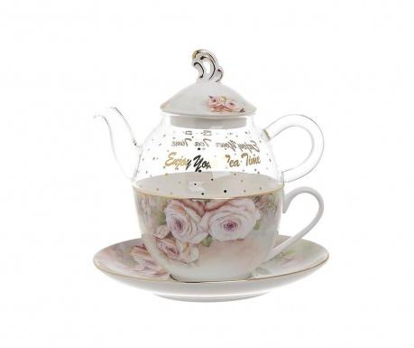 Roso Teáskanna csészével és kistányérral