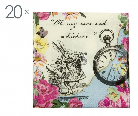 Set 20 salveta Truly Alice Whimsical