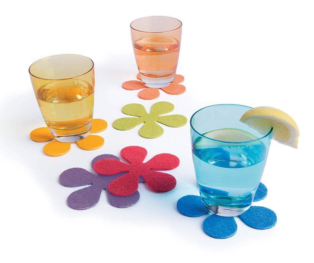 Set 6 podmetača za čaše Flower