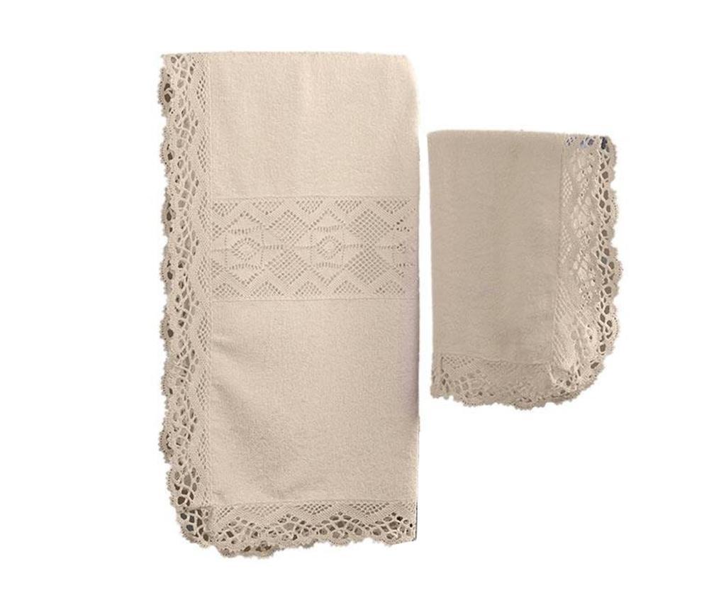 Sada 2 ručníků Lacy Chalk