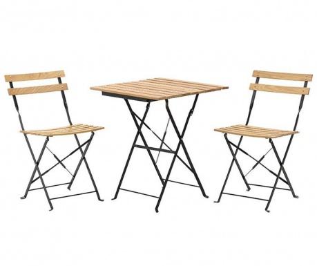 Desto Beige Összecsukható kültéri asztal és 2 db szék