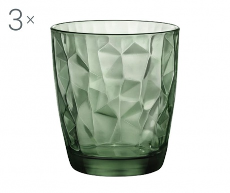 Diamond Green 3 db Pohár 300 ml