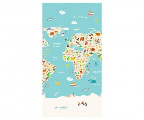 Ručnik za plažu Worldmap 75x150 cm