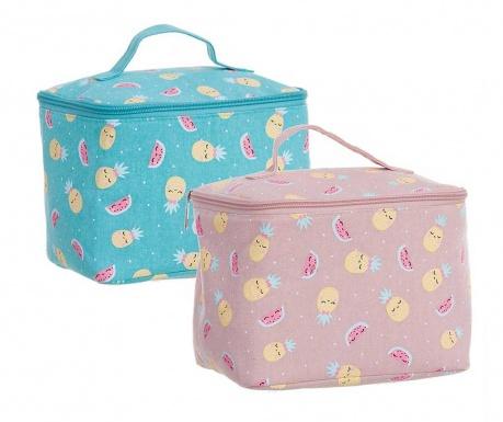 Set 2 kozmetičke torbice Pineapple Kawaii