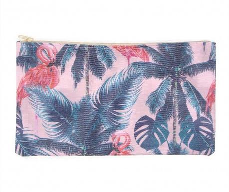Kozmetička torbica Tropical Flamencos Wide