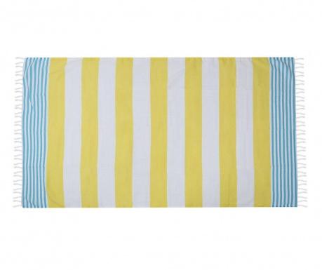 Ručnik za plažu Fouta Antalya Yellow 100x180 cm