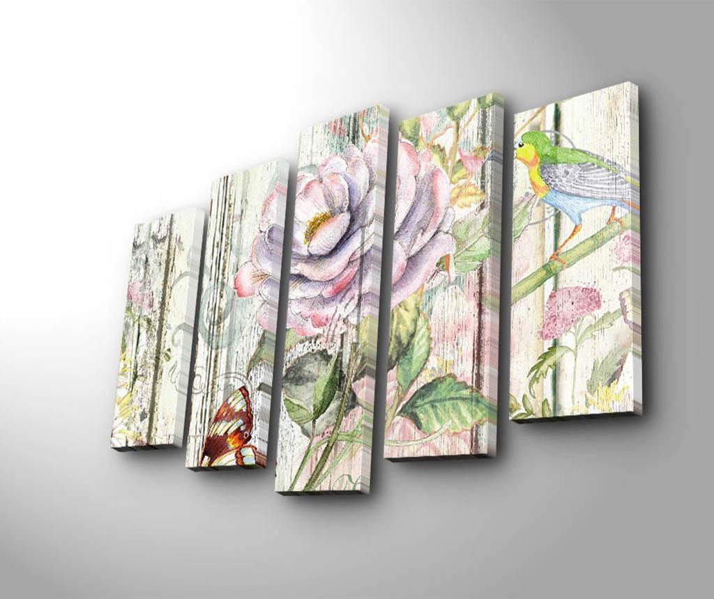 Set 5 tablouri Roses