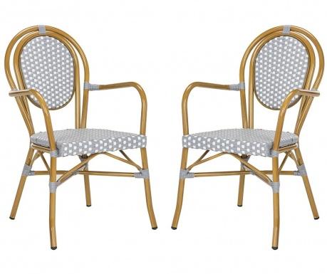 Zestaw 2 krzeseł Fayette Grey