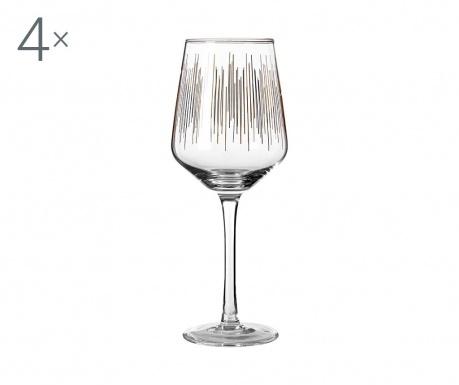 Zestaw 4 kieliszków do wina Deco 430 ml