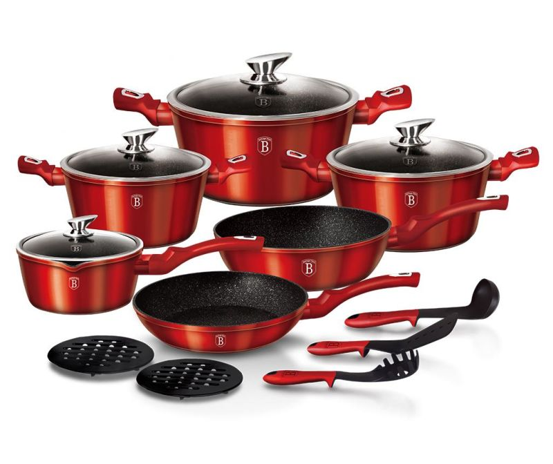 15-dijelni set posuda za kuhanje Metallic Line  Red Edition