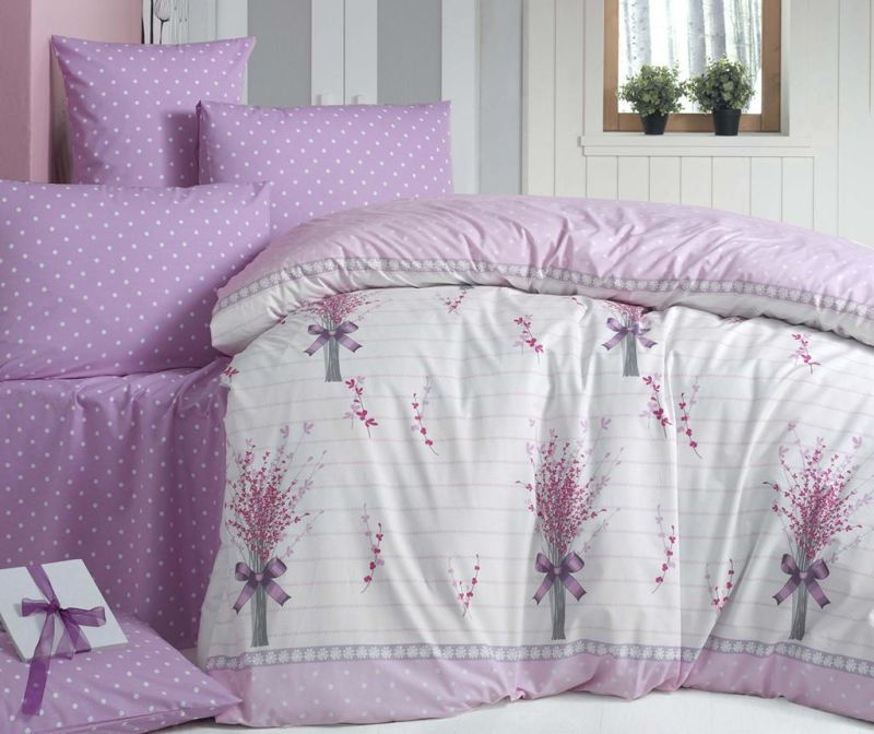 Posteljnina King Ranforce Fiyonk Pink