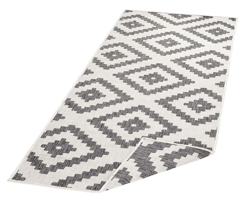 Twin Malta Grey Cream Kültéri szőnyeg 80x350 cm