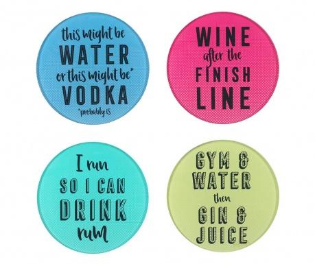 Set 4 podmetača za čaše Cocktail Life
