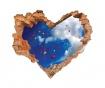 Samolepka 3D Coeur Ciel