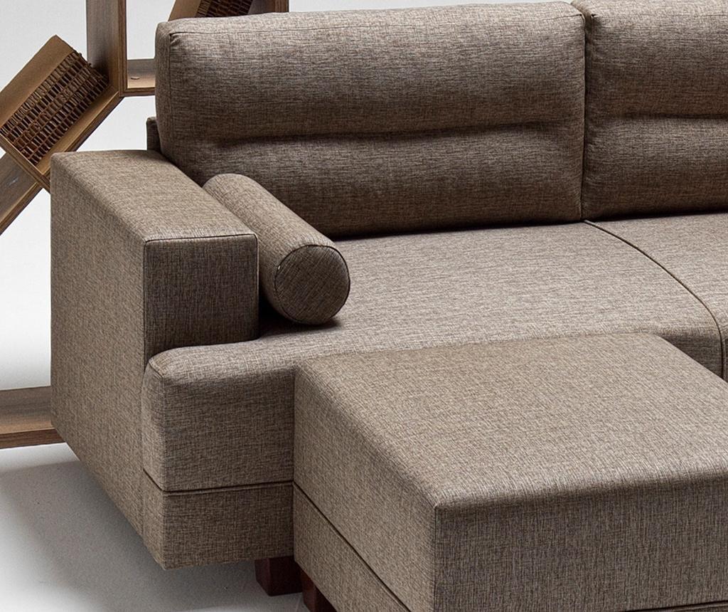 Set kauč trosjed i tabure za noge Oslo Brown