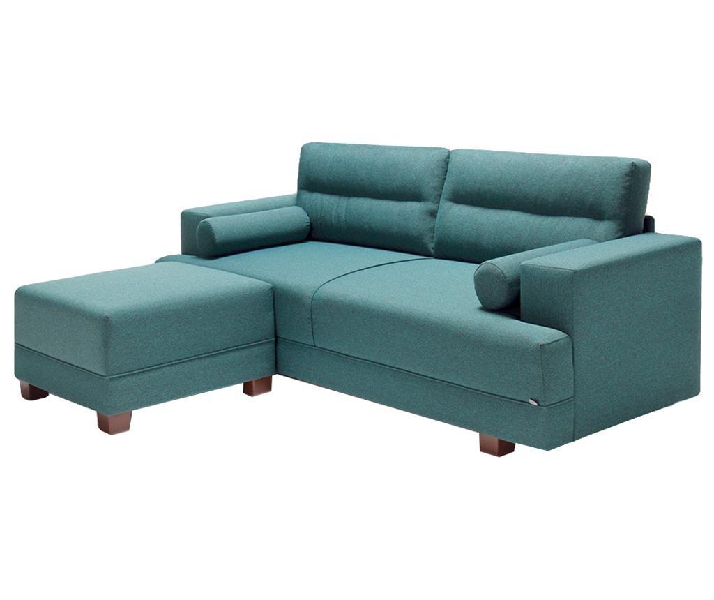 Set kauč trosjed i tabure za noge Oslo Turquoise