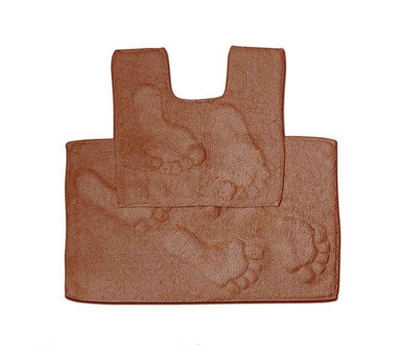 Set - brisača za na tla in kopalniška preproga Loren Chocolate