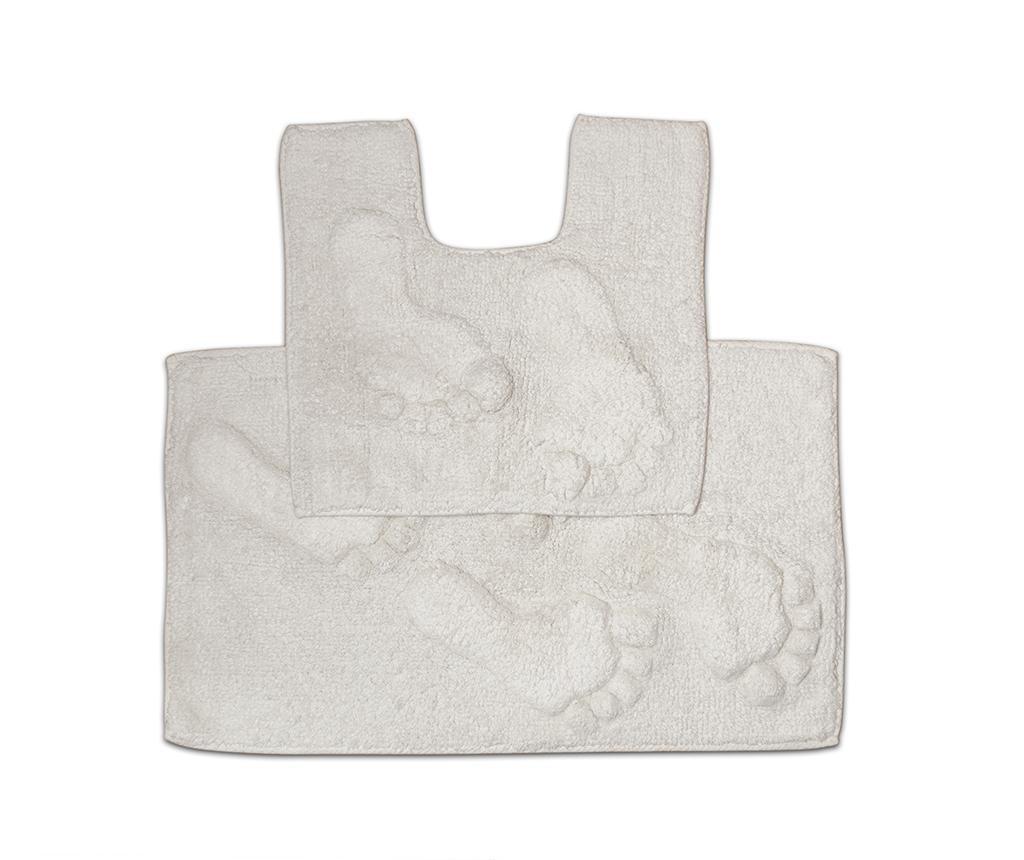 Set ručnik za noge i kupaonski tepih Loren Cream