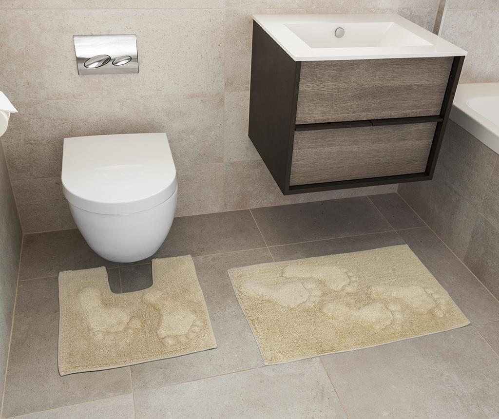 Set ručnik za noge i kupaonski tepih Loren Natural