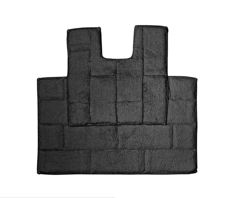 Set ručnik za noge i kupaonski tepih Quiana Black