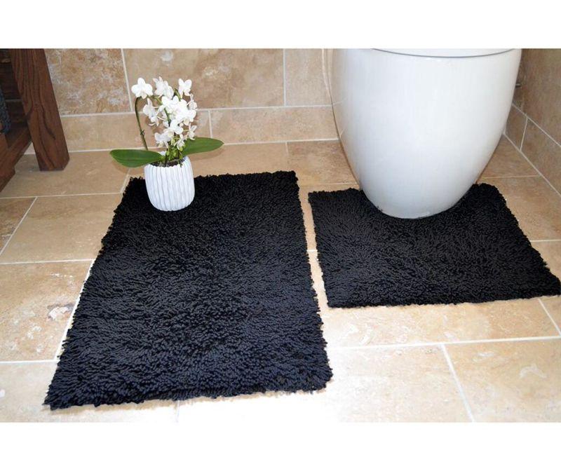 Комплект 2 килима за баня Ivo Black