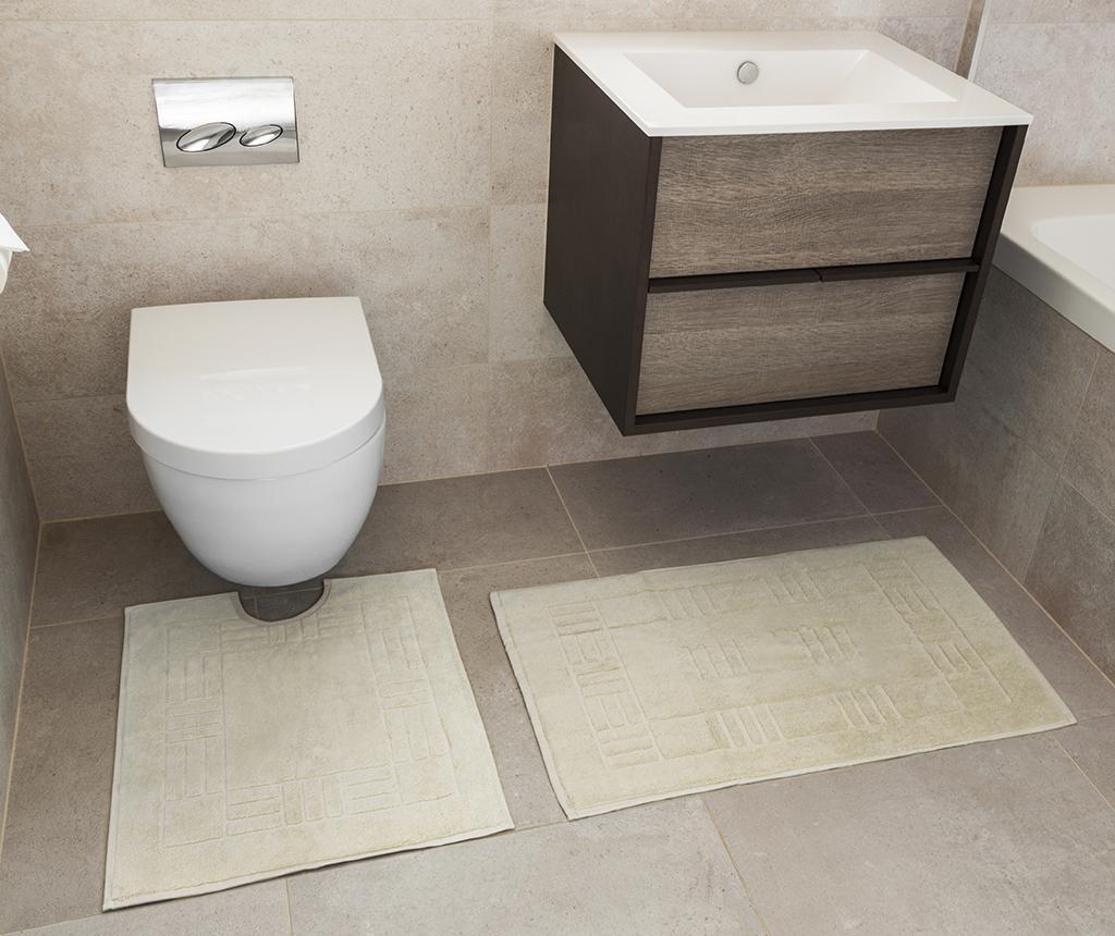 Set ručnik za noge i kupaonski tepih Reversible Verica Cream