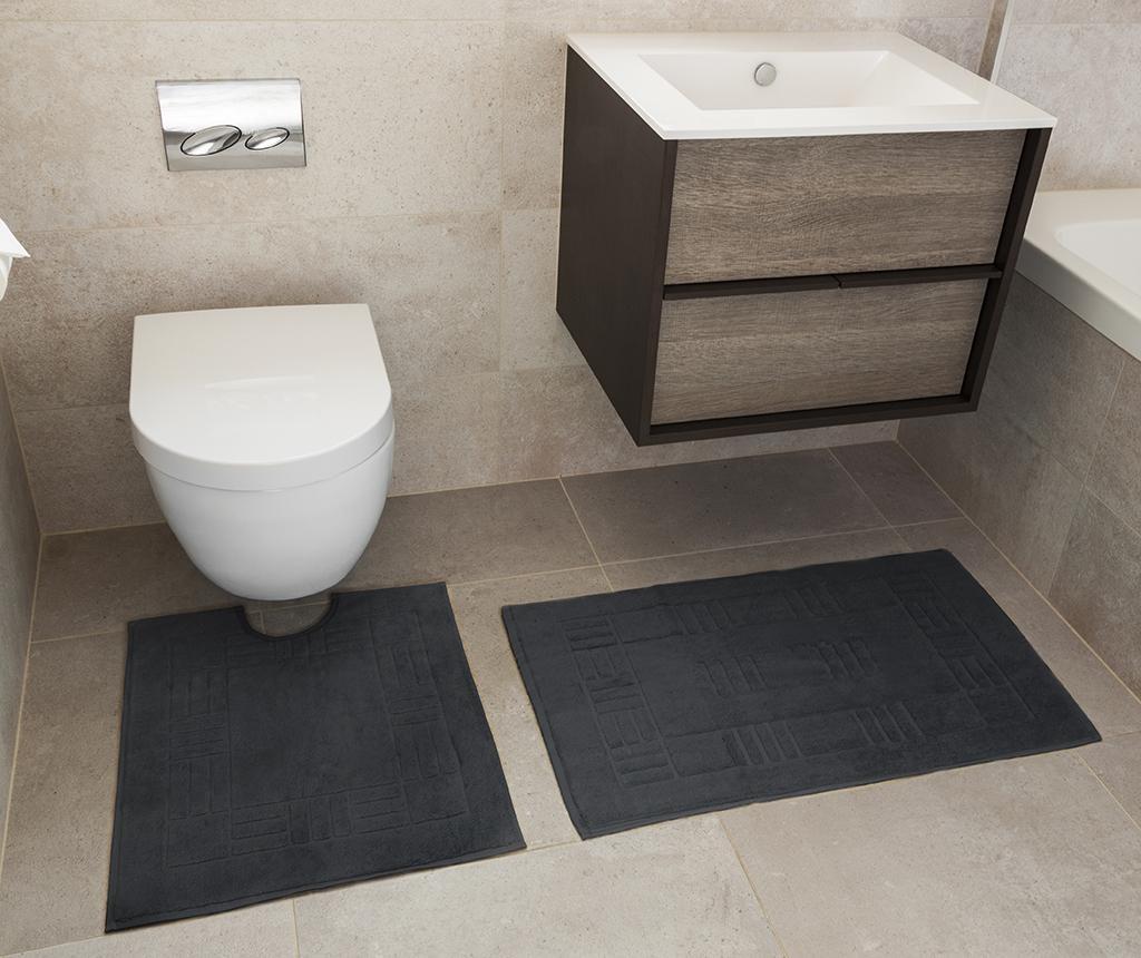 Set ručnik za noge i kupaonski tepih Reversible Verica Grey