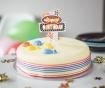 Svetlobna dekoracija za torto Happy Birthday