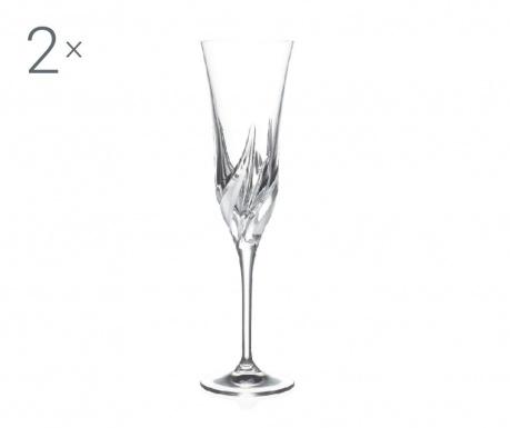 Set 2 kozarcev za šampanjec Cetona 170 ml