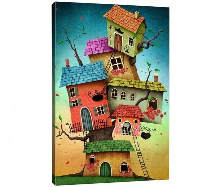 Slika Tree Houses 40x60 cm