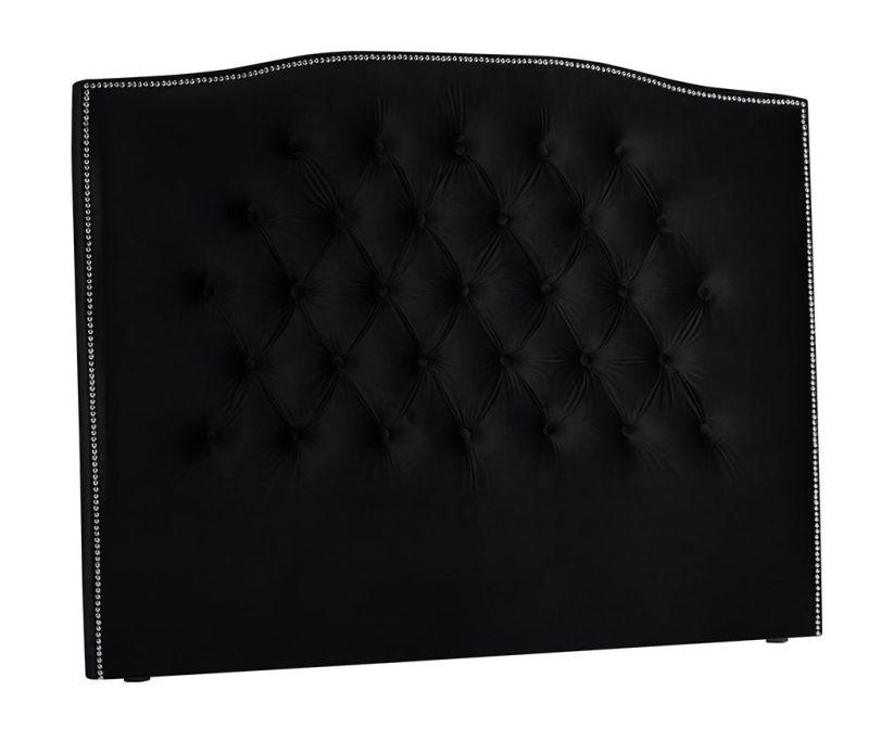 Tablie de pat Cloves Deep Black 140 cm