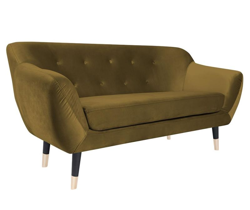 Amelie Gold Black Kétszemélyes kanapé