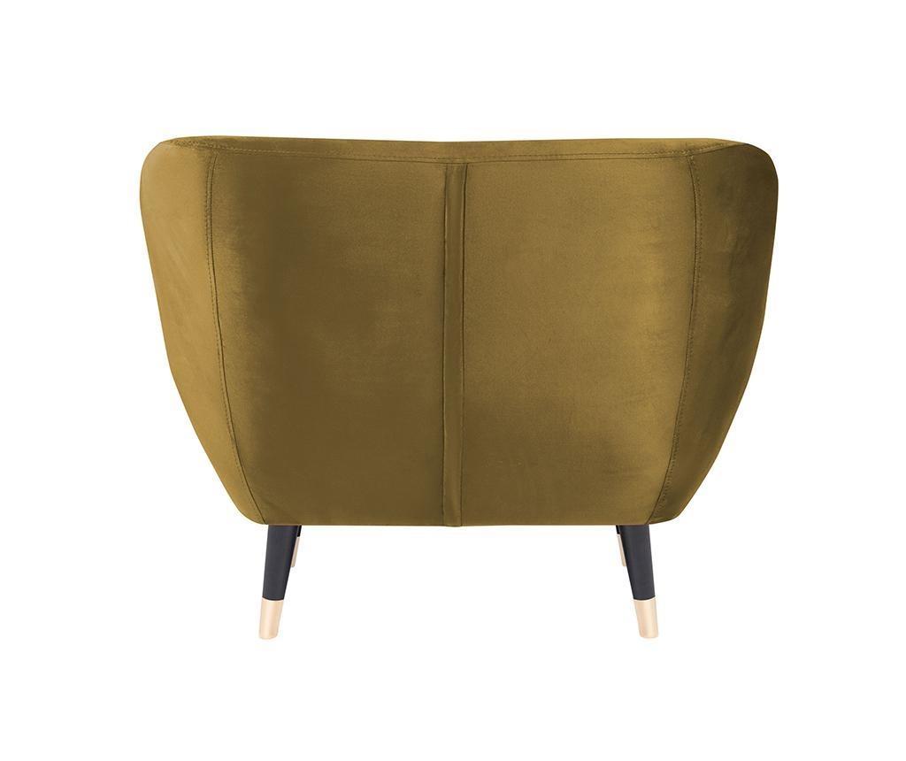 Fotelja Amelie Gold Black