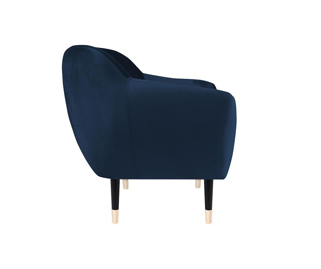 Benito Dark Blue Black Fotel