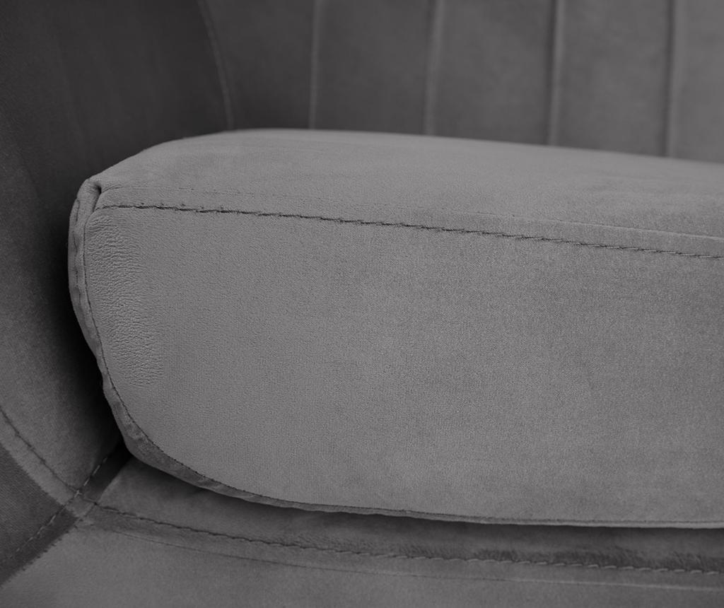 Fotelja Benito Grey Black