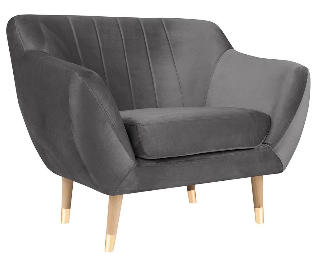 Fotelja Benito Dark Grey Natural