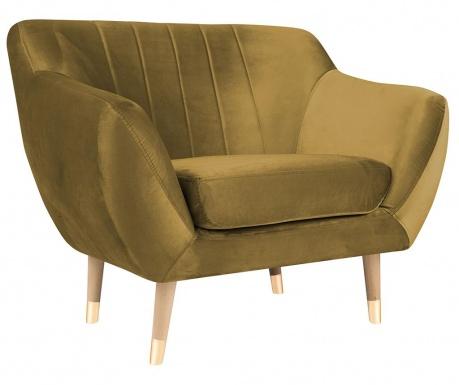 Benito Gold Natural Fotel