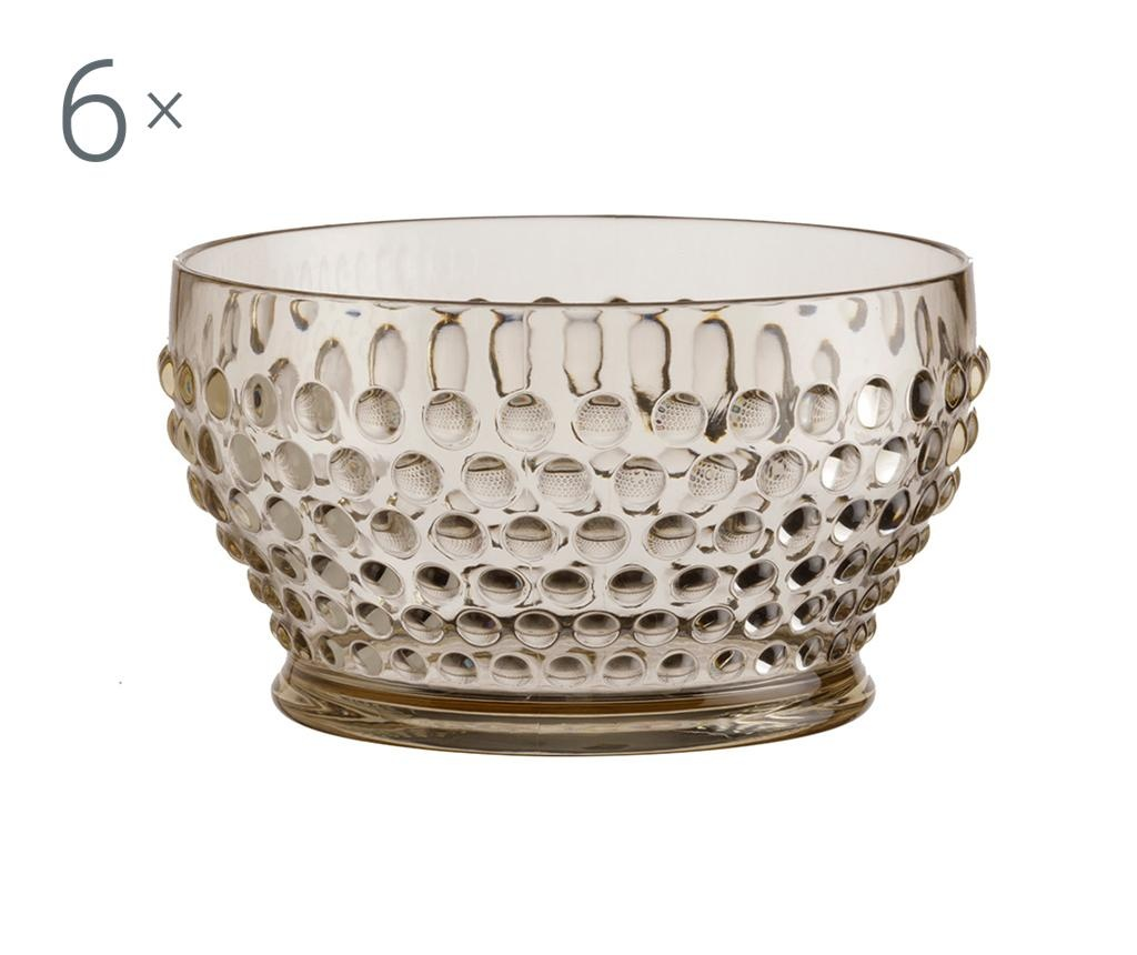 Set 6 boluri Lux Gold 380 ml