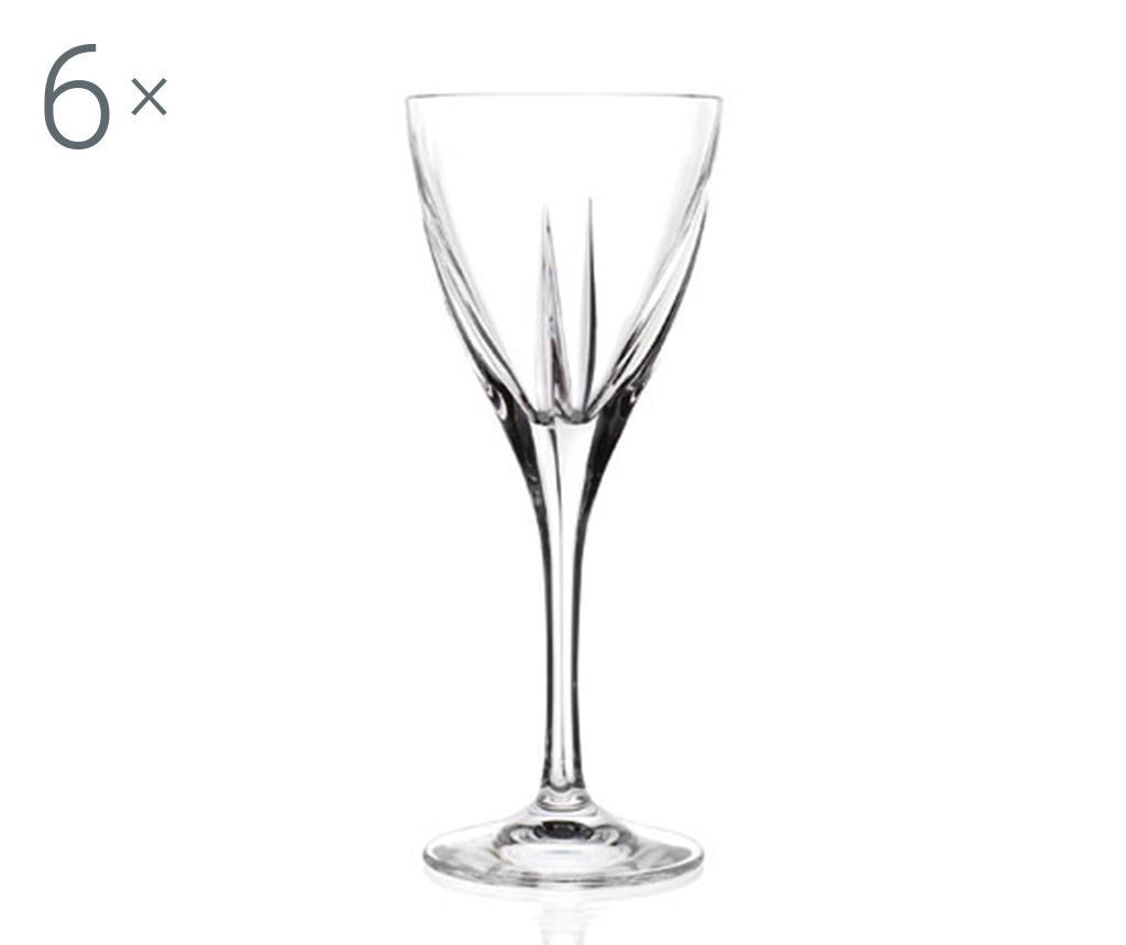 Sada 6 sklenic na stopce na likér Fusion 70 ml
