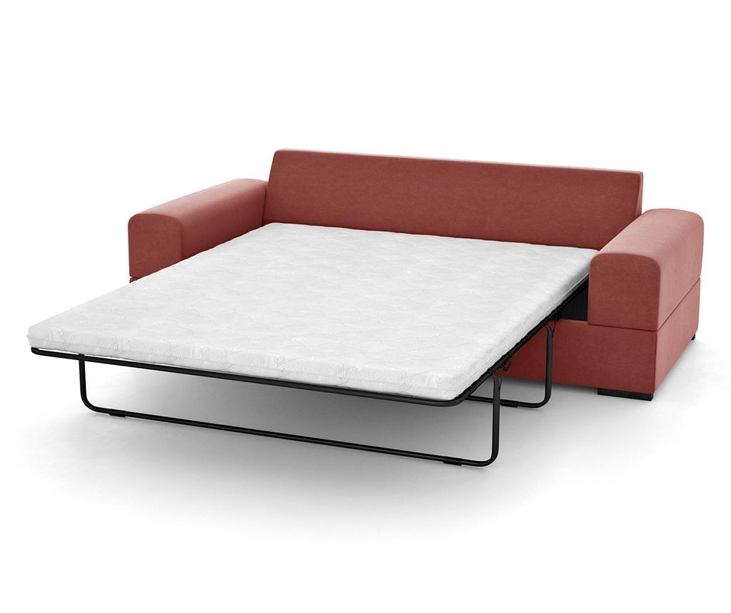 Dasha Peach Háromszemélyes kihúzható kanapé