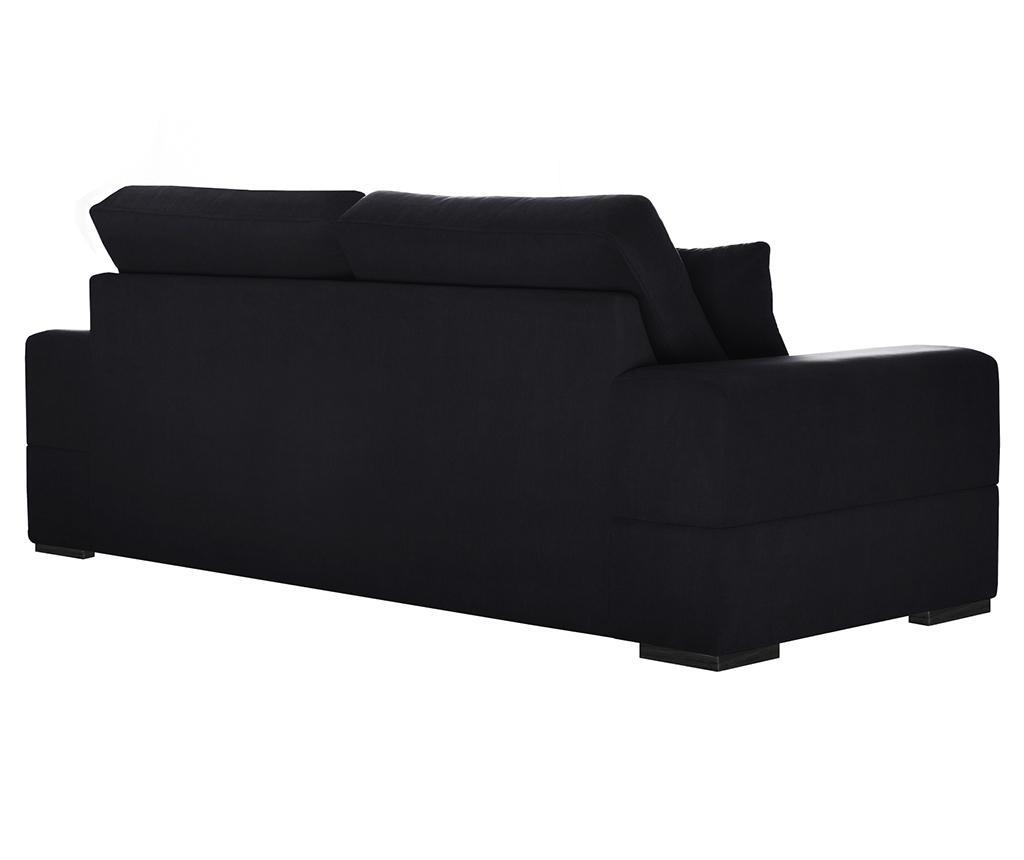 Dasha Black Háromszemélyes kihúzható kanapé