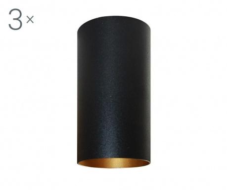 Zestaw 3 lamp sufitowych Briska Black Gold