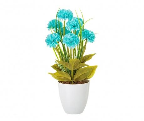 Sztuczna roślina w doniczce Crysanthenum  Blue