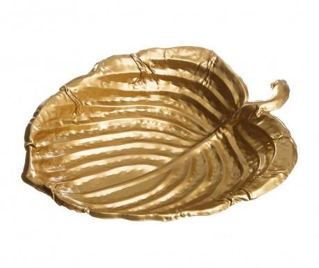Διακοσμητική πιατέλα Taya Leaf Gold