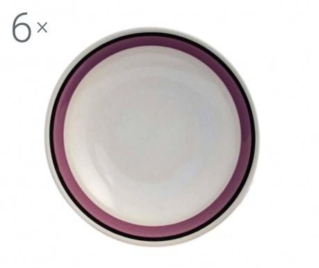 Sada 6 dezertních talířů Sapori Purple