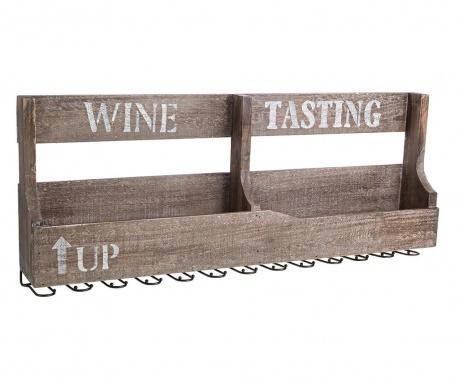 Držák na láhve a sklenice Wine Tasting