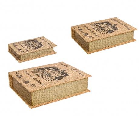 Sada 3 krabic ve tvaru knihy Ennio